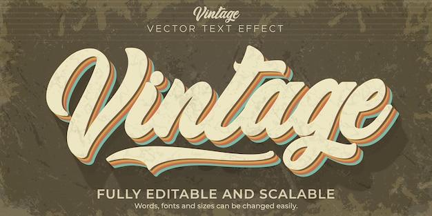 Effetto testo retrò, vintage, stile di testo modificabile anni '70 e '80