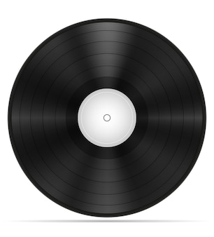 Disco in vinile retrò stock illustrazione isolato su sfondo bianco