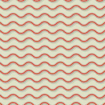Motivo a onde retrò, sfondo geometrico astratto in stile anni '80 e '90. illustrazione geometrica semplice