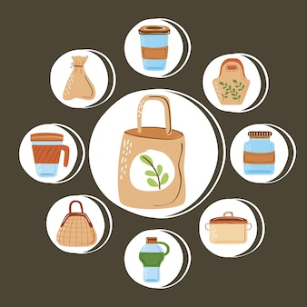 Contenitori e sacchetti riutilizzabili