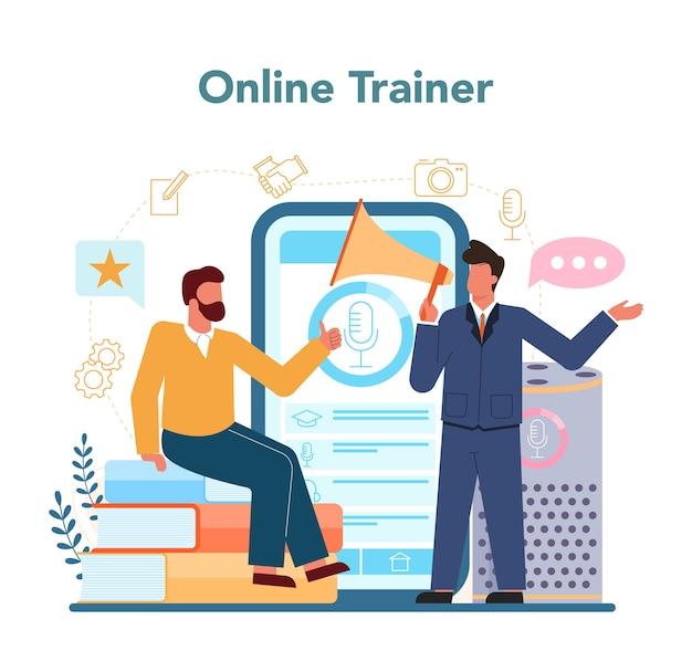 Piattaforma o servizio online specializzato in retorica o elocuzione.