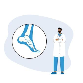 Artrite reumatoide articolare nella caviglia. aiuto medico ed esame medico in clinica.