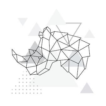 Emblema geometrico del rinoceronte