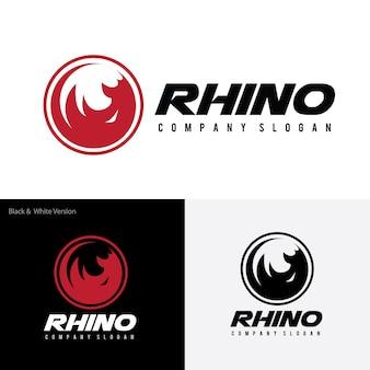 Modello di rhino logo.
