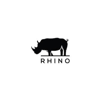 Modello di logo di rinoceronte