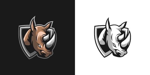 Mascotte di rinoceronte bundle design