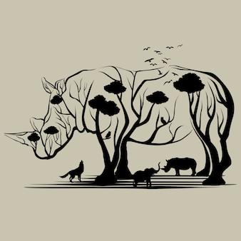 Alberi di rinoceronte