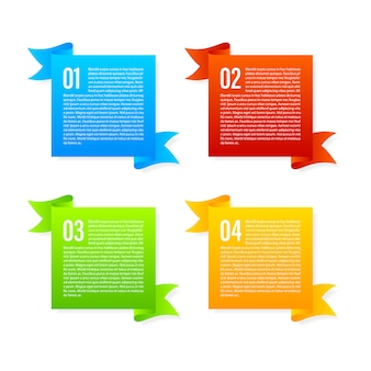 Set di bandiere di colore del nastro
