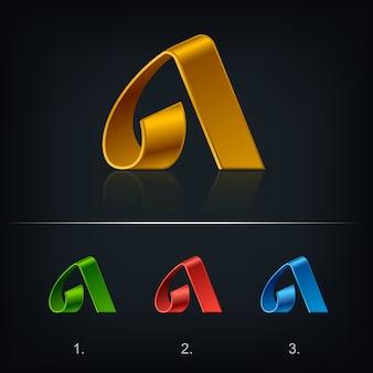 Lettera del nastro un modello di logo emblema.