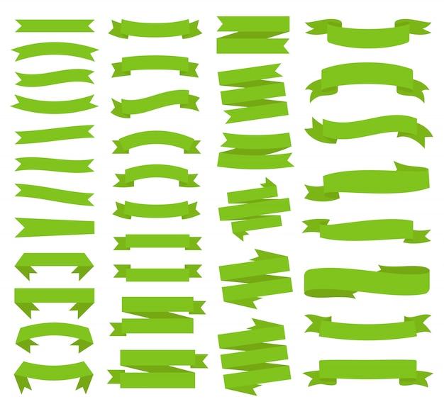 Set di etichette modello nastro. vuoto per grafica decorativa.