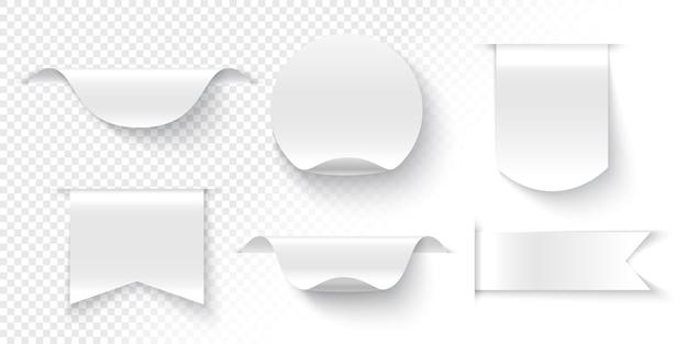 Nastri, cartellini e adesivi su trasparente