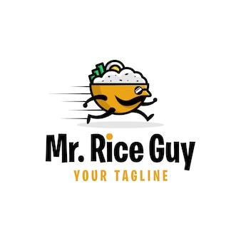 Ragazzo di riso, modello di progettazione di logo
