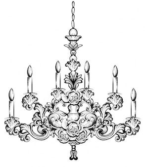 Ricco lampadario barocco