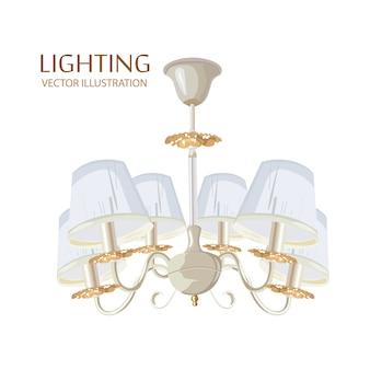 Acquerello classico ricco di lampadari