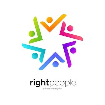 Design del logo della comunità delle persone giuste