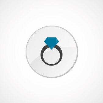 Icona anello 2 colorata, grigia e blu, badge cerchio
