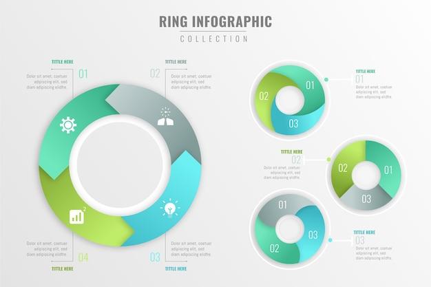 Concetto di raccolta infografica anello