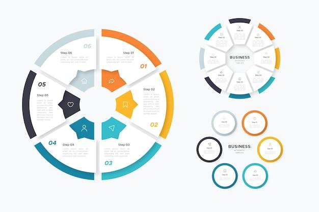 Collezione infografica anello