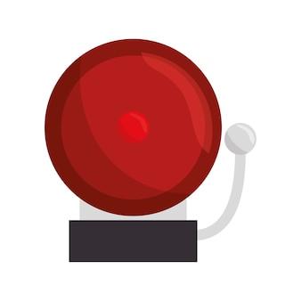 Progettazione dell'illustrazione di vettore dell'icona dell'allarme della scuola di anello