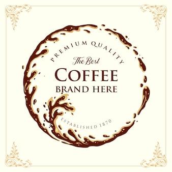 Distintivo ad anello schizzato coffee premium quality