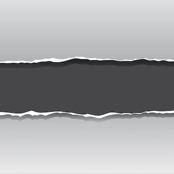 Sfondo di carta strappato frame