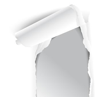 Carta bianca strappata