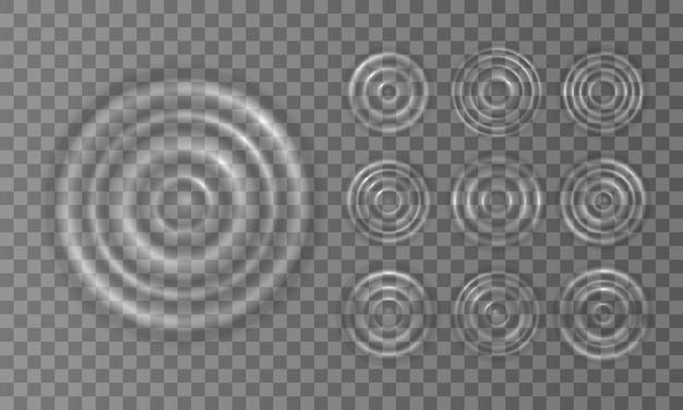 Spruzzi increspati delle onde d'acqua sulla superficie di una goccia.