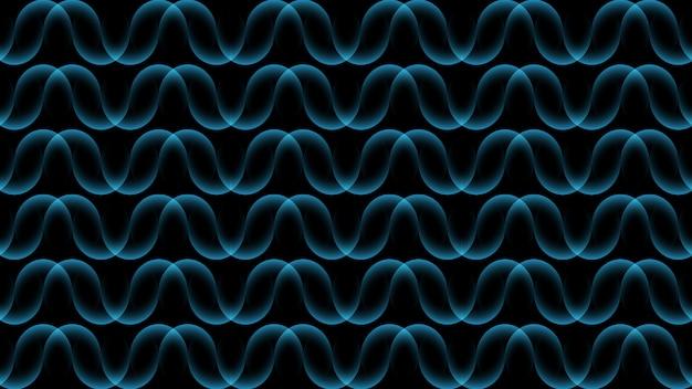 Ondulazione del fondo di concetto dell'onda, linee scorrenti, bande astratte del fondo