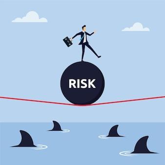 Concetto di rischio per l'illustrazione vettoriale di successo