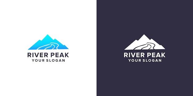 Modello di logo di picco del fiume