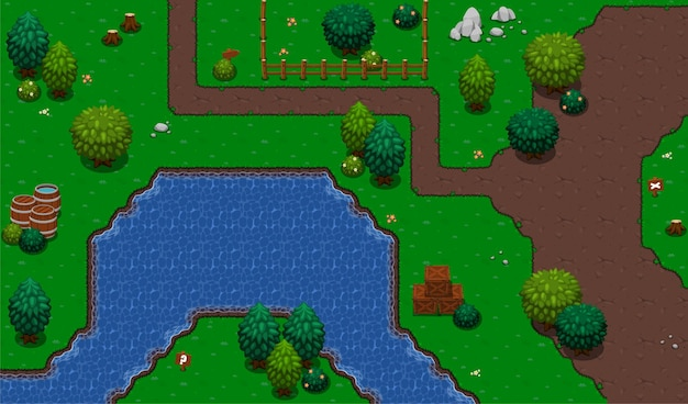 River top down gioco tileset