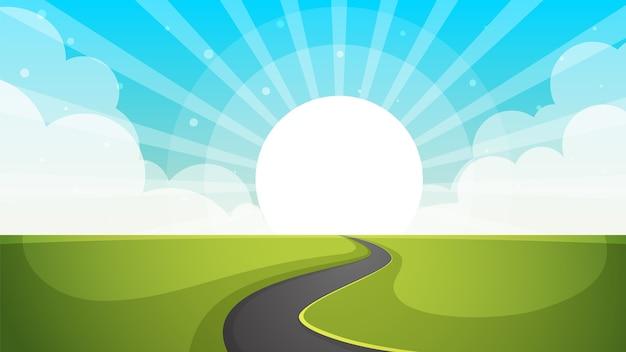 Illustrazione della strada