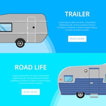 Volantini per la vita su strada con rimorchi da campeggio