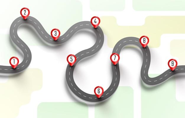 Taxi road trip, pave the route, informazioni sulla posizione.