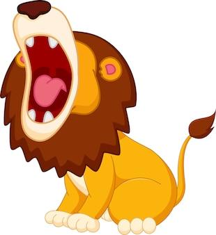 Cartone animato leone ruggente