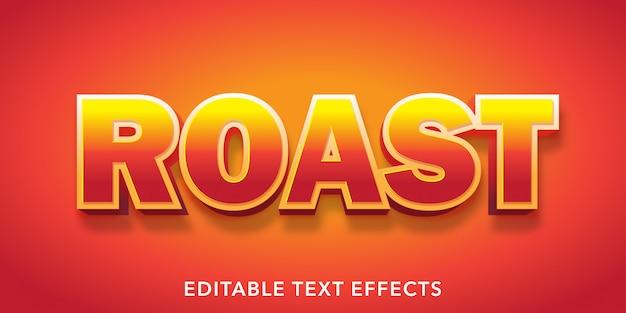 Arrostire effetti di testo modificabili