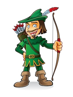 Robin hood stava sorridendo e tenendo un inchino