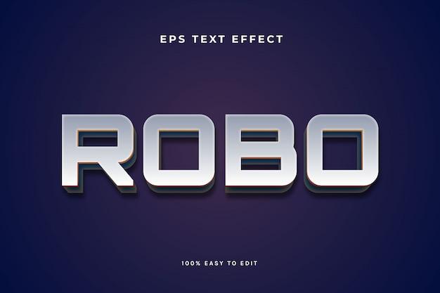 Effetto di testo in metallo robo