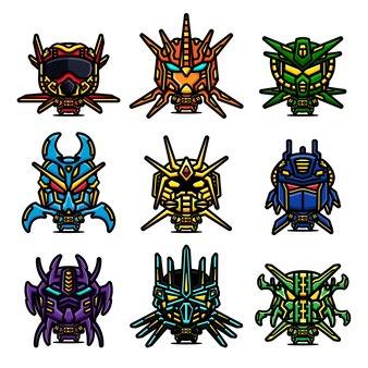 Pacchetto di personaggi robot