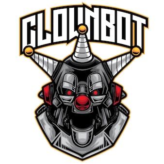 Logo di robot clown esport