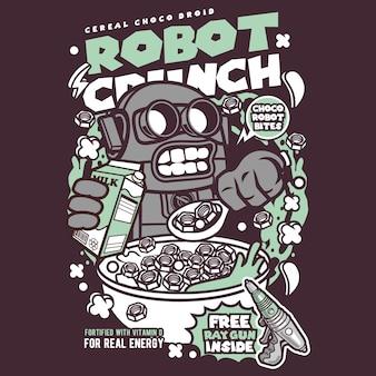 Robot crunch cartoon