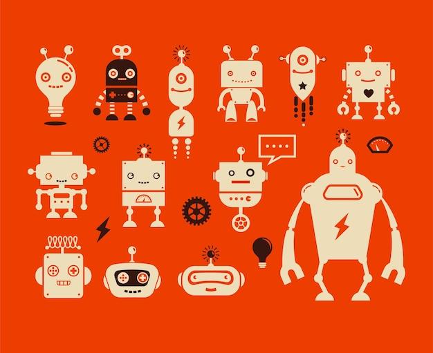 Simpatici personaggi robot