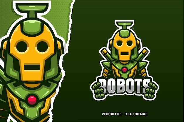 Modello di logo di robot e-sport