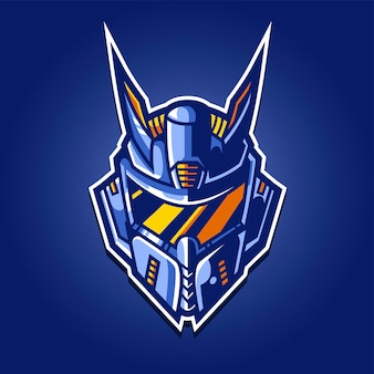 Logo di gioco robot esport