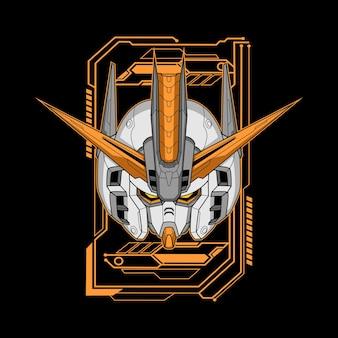 Illustrazione della testa del robot