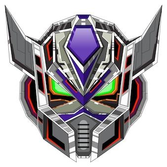 Logo della mascotte della testa del robot