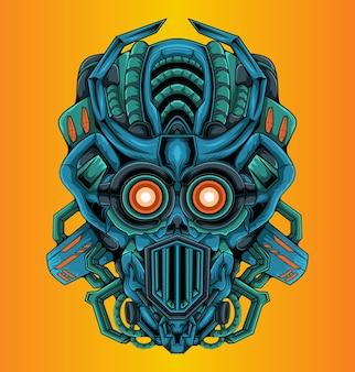 Design umanoide moderno della testa del robot