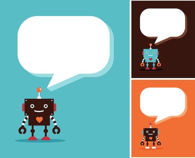Icone robot e simpatici personaggi