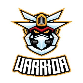 Logo di robot warrior esport
