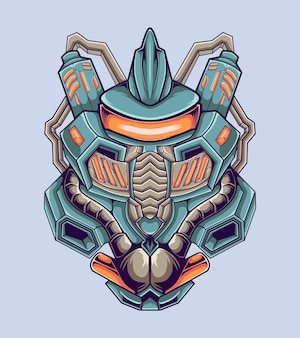 Illustrazione dell'opera d'arte del combattente robotico